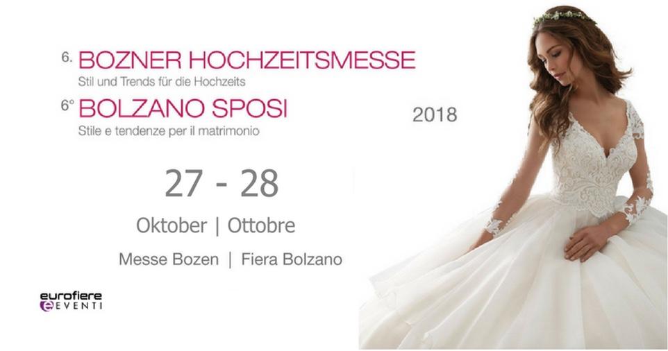 3f6010ed8331 Il 27 e 28 Ottobre 2018 torna l ormai immancabile appuntamento con la Fiera  degli Sposi di Bolzano